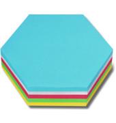 Moderationskarten Waben Papier sortiert 16,5 x 19cm 250 St