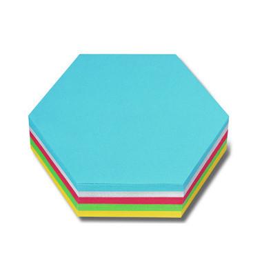 Moderationskarten Wabe farbig sortiert 19x16,5cm 250 Stück