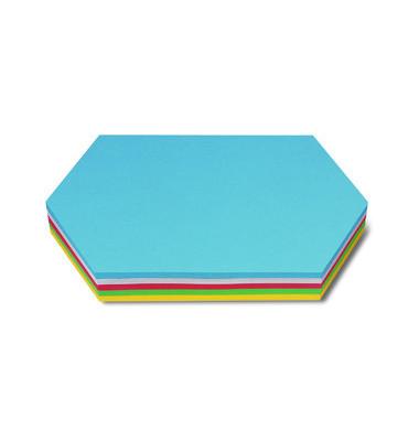 Moderationskarten Königswabe farbig sortiert 29,7x16,5 cm 250 Stück