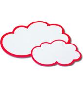 Moderationswolken Papier rotweiß 37 x 62cm 20 St