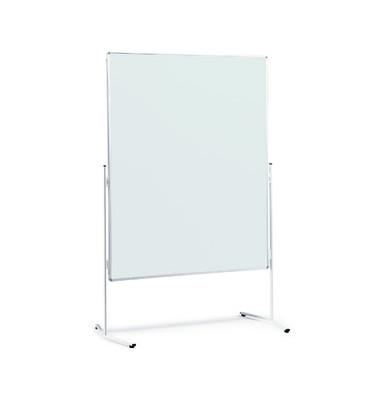 Moderationstafel, 120x150cm, Karton + Karton (beidseitig), pinnbar, weiß + weiß