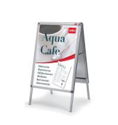Kundenstopper Innen-/Aussenbereich A0 Rahmen silber 18 kg