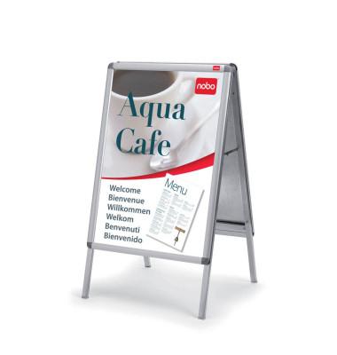 Kundenstopper Innen-/Aussenbereich A1 Rahmen silber 10,5 kg