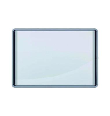 Schaukasten 6 x A4 für Innen mit Schloß magnetisch grau