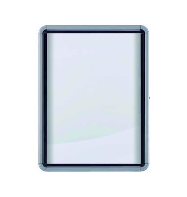 Schaukasten 1902560 9 x A4 Metallrückwand weiß, grau magnetisch