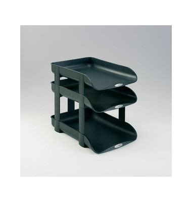 Briefablage Agenda2 2101016 A4 / C4 dunkelgrau Kunststoff stapelbar