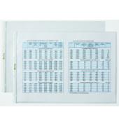 Prospekthüllen A3-quer transparent genarbt 80my oben offen 100 Stück