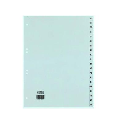 Kunststoffregister 25240481 A-Z A4 0,11mm graue Taben 20-teilig