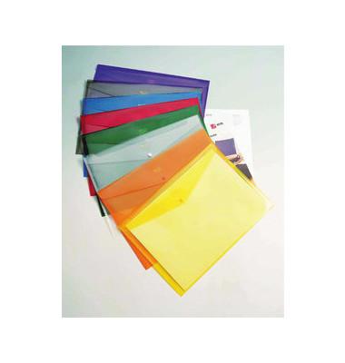 Dokumententasche Carry Folder A4 farbig sortiert/transparent