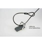 Tisch-Anchor-Point Kabelschlaufe für Notebookschlösser grau