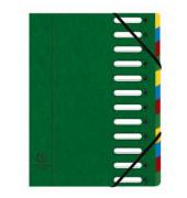 Eckspann-Ordnungsmappe 12 Fächer gr 425g/qm Manila Karton, Innenfach