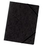 Eckspanner A4 355g Colorspan-Karton mit praktischen Gummizügen schwarz