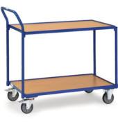 Tischwagen 2Et Stahlrohr/Buche bl/bn 1000x600mm b. 250kg