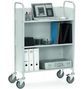 Bürowagen m.3 Etagen 4 Räder l.grau 1218x320mm b.150kg