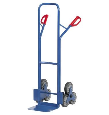 Treppenkarre 2 3-Rad-Sterne Stahl bl H:1300mm b.200 kg