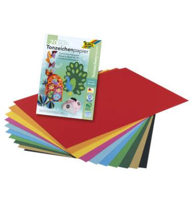 Tonpapierblock A4 20 Bl