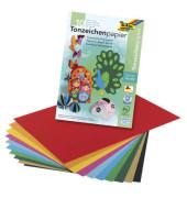 Tonzeichenpapierblock A3 130g farbig sortiert 10 Blatt 603
