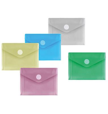 Dokumententasche 40117 A7 farbig sortiert/transparent 10 Stück