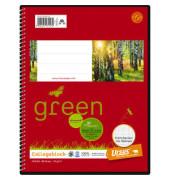 Collegeblock Ursus green 044350 020, A5 kariert, 70g 80 Blatt, 4-fach-Lochung