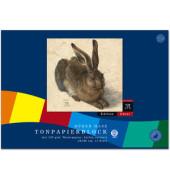 Tonzeichenpapierblock Edition Dürer Hase 34x48cm farbig sortiert 12 Blatt 053523