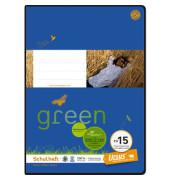 Schulheft green FX-15 A4 liniert mit Rahmen weiß 20 Blatt