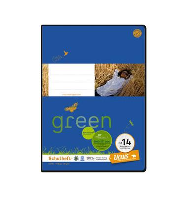 Schulheft green FX-14 A4 kariert mit Rahmen weiß 20 Blatt