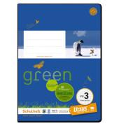 Schulheft green FX-3 A5 kariert weiß 20 Blatt