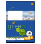 Schulheft green FX-9 A5 rautiert weiß 20 Blatt