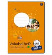 Vokabelheft green FX-46 A4 Lineatur 54 liniert 3 Spalten 40 Blatt