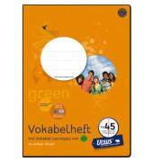 Vokabelheft green FX-45 A4 Lineatur 53 liniert 2 Spalten weiß 40 Blatt