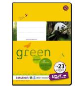 Schulheft green FX-23 A5 liniert mit Rand weiß 40 Blatt