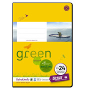 Schulheft green FX-24 A5 kariert mit Rahmen weiß 40 Blatt