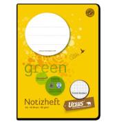 Schulheft green Notiz A6 kariert weiß 40 Blatt