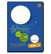 Schulheft green Notiz A6 liniert weiß 16 Blatt