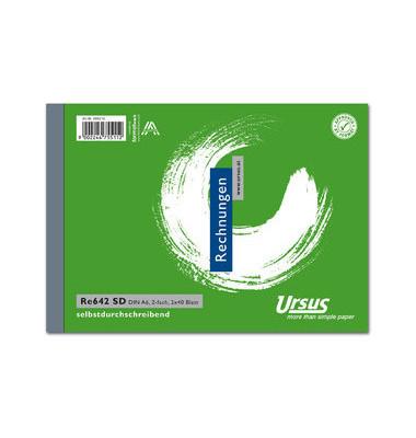 Rechnungsbuch Ursus RE642SD A6 quer 2x40 Bl
