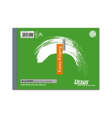 Kassa-Eingangsbuch KE642SD A6 quer 2x40 Bl