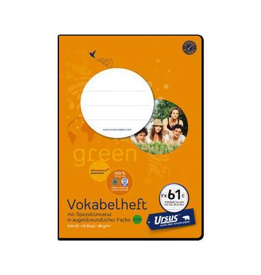 Vokabelheft green FX-61c A5 Lineatur 53 liniert 2 Spalten weiß 40 Blatt