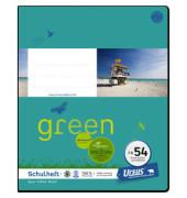 Schulheft green FX-54 Quart kariert mit Rahmen weiß 40 Blatt