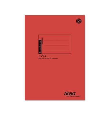 Kassabuch T540/3 3Sp 80g A5 40 Bl