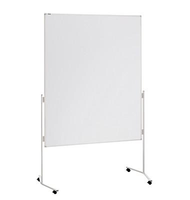 Moderationstafel Eco ECO-UMTKR, 120x150cm, Karton + Karton (beidseitig), pinnbar, mit Rollen, weiß + weiß