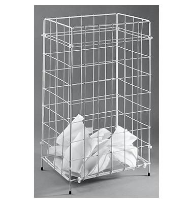 Drahtgitter Papierkorb Sammelkorb 2340013 60 Liter weiß