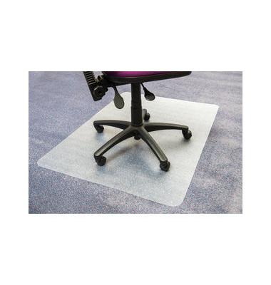 Bodenschutzmatte Cleartex advantagemat 120 x 150 cm Form O für Teppichböden transparent Vinyl
