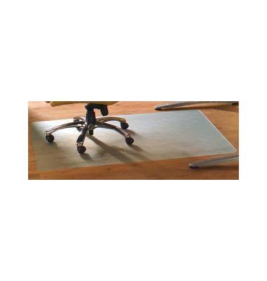 Bodenschutzmatte Cleartex advantegemat 90 x 120 cm Form O für Hartböden transparent Vinyl