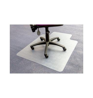 Bodenschutzmatte Computex advantagemat 90 x 120 cm Form L für Teppichböden transparent Vinyl