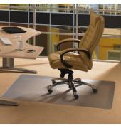 Bodenschutzmatte Ecotex evolutionmat 90 x 120 cm Form O für Teppichböden transparent Polymer