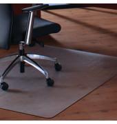 Bodenschutzmatte Cleartex megamat 115 x 150 cm Form O für Hartböden & Teppichböden transparent PC