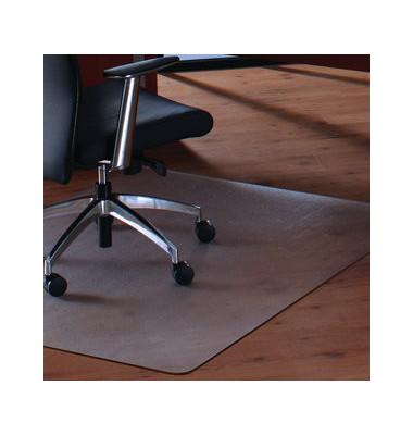 Bodenschutzmatte Cleartex megamat 89 x 119 cm Form O für Hartböden & Teppichböden transparent PC