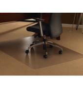 Bodenschutzmatte Cleartex ultimat 100 x 120 cm Form O für Teppichböden transparent PC