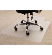 Bodenschutzmatte Cleartex ultimat 120 x 134 cm Form U für Teppichböden transparent PC