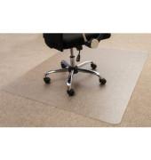 Bodenschutzmatte Cleartex ultimat 120 x 134cm Form O für Teppichböden transparent PC